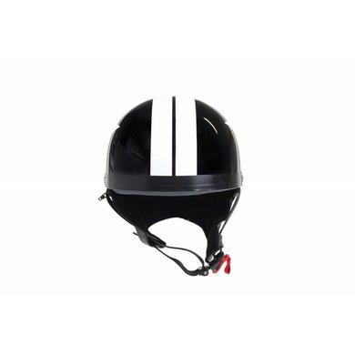 Black half helmet white star