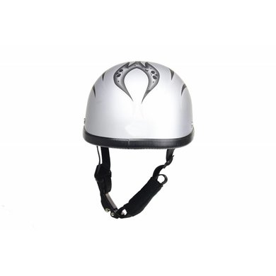 Dream Apparel burning skull zilver chopper helm