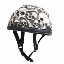 White skulls chopper helm
