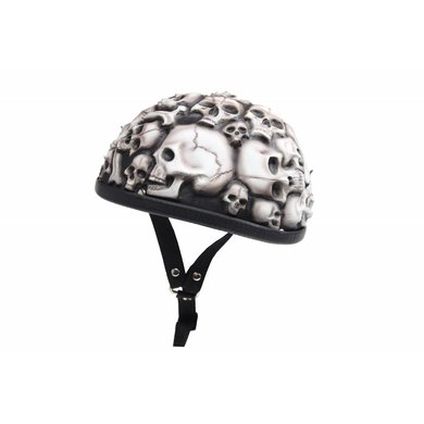 White skulls chopper helmet