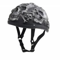 Grey skull chopper helm