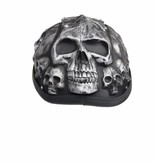 Grey skull chopper helmet