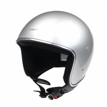 RB-660 retro open face helmet silver