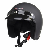 RB-710 retro open face helmet matt black