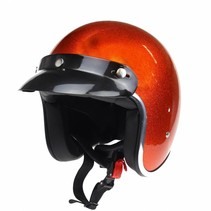 RB-765 retro helmet metal flake orange
