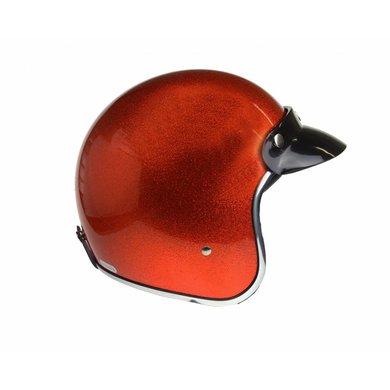 Redbike RB-765 retro helmet metal flake orange