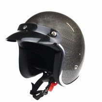 RB-765 retro open face helmet metal flake grey