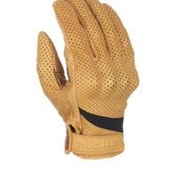 custom perforated beige motorhandschoenen