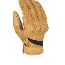 custom perforated beige motor gloves
