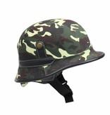 German helmet woodland camouflage