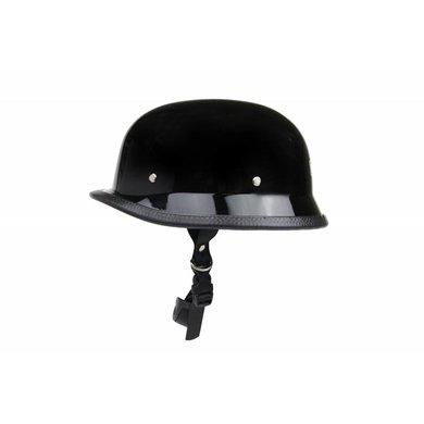 German motorcyle helmet black