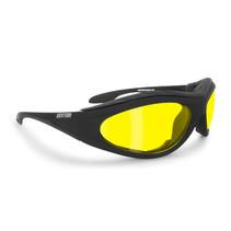 antifog AF125A zwarte motorbril geel glas