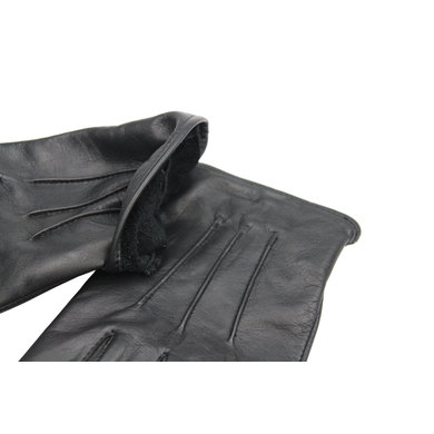 Swift classic fleece lined black leather gloves