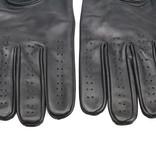 Swift retro racing leren handschoenen zwart