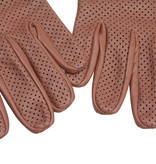 Swift retro racing mesh leren handschoenen nappa bruin
