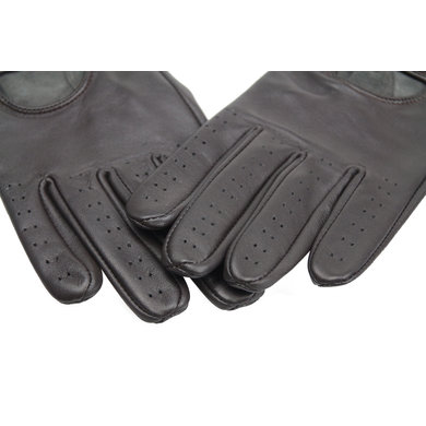 Swift retro racing leather gloves dark brown