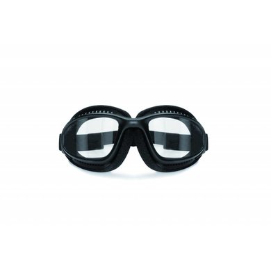 Bertoni antifog AF113B black motor goggles  clear glasses