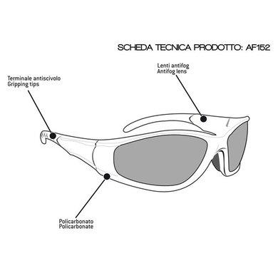Bertoni antifog AF152A black motor goggle yellow lenses