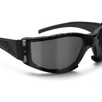 antifog AF149C zwarte motorbril smoke glas
