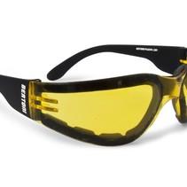antifog AF150A zwarte motorbril geel glas
