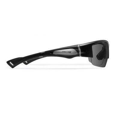 Bertoni polarized P1001FTA motor goggle matt black - smoke lenses