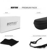 Bertoni polarized P1000A motor goggle black - smoke lenses