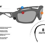 Bertoni polarized P1000B motor goggle red - smoke lenses