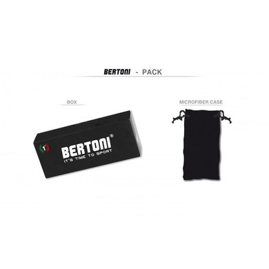 Bertoni polarized P1000B motorbril rood - smoke glas