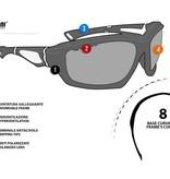 Bertoni polarized P676A motor goggle black - smoke lenses