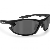 polarized P676A motorbril zwart - smoke glas