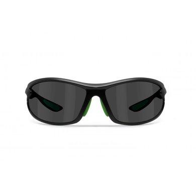 Bertoni polarized P676M motor goggle black with green - smoke lenses