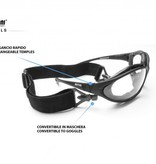 Bertoni photochromic F333A matt black motor goggles