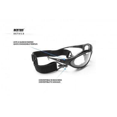 Bertoni photochromic F333A matzwart motorbril