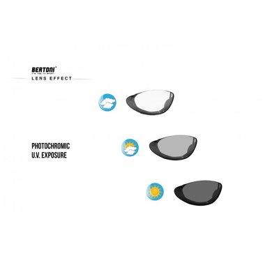 Bertoni photochromic F1001A  black motor sunglasses