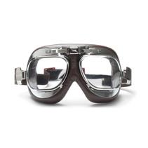 antifog AF193CRB brown leather motor goggles