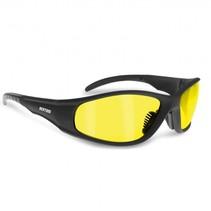 antifog AF152A zwarte motorbril geel glas
