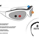 Bertoni antifog AF125A zwarte motorbril geel glas