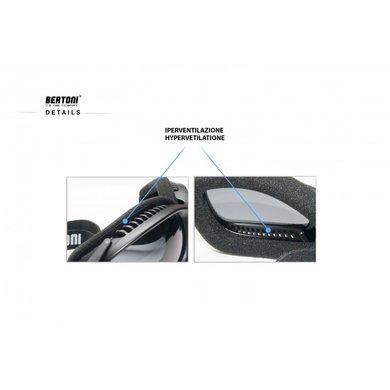 Bertoni antifog AF113B zwarte motorbril helder glas