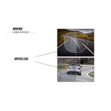 Bertoni antifog AF149C motor goggle smoke lenses