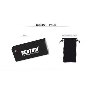 Bertoni antifog AF149C zwarte motorbril smoke glas