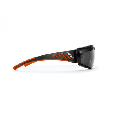 Bertoni antifog AF149HD1 motor goggle black-orange with smoke lenses