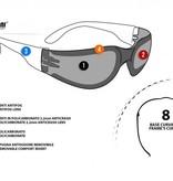 Bertoni antifog AF150A black motor goggle yellow lenses
