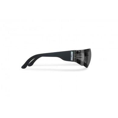 Bertoni antifog AF150C zwarte motorbril smoke glas