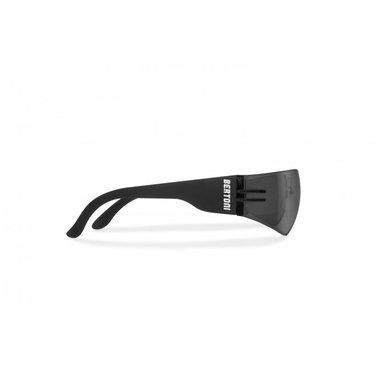 Bertoni antifog AF151C zwarte motorbril smoke glas