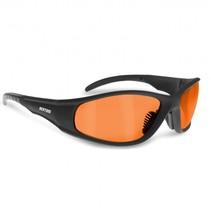 antifog AF152D black motor goggle orange lenses