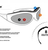 Bertoni antifog AF152D black motor goggle orange lenses