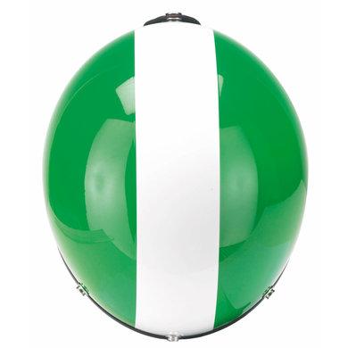 Redbike RB-753 retro open face helmet green-white