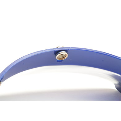 Square helm zonneklep blauw