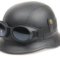 Black, leather german motor helmet | outlet