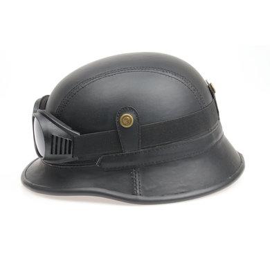 Black, leather german motor helmet | outlet